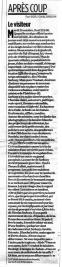28.10.2005 - Le visiteur, Libération